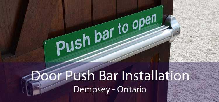 Door Push Bar Installation Dempsey - Ontario