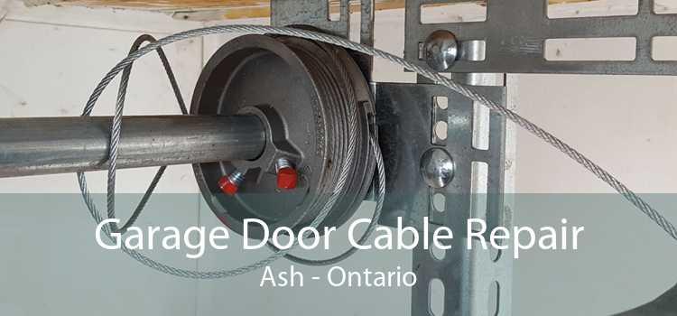 Garage Door Cable Repair Ash - Ontario