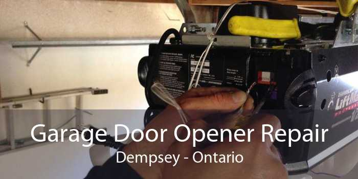 Garage Door Opener Repair Dempsey - Ontario